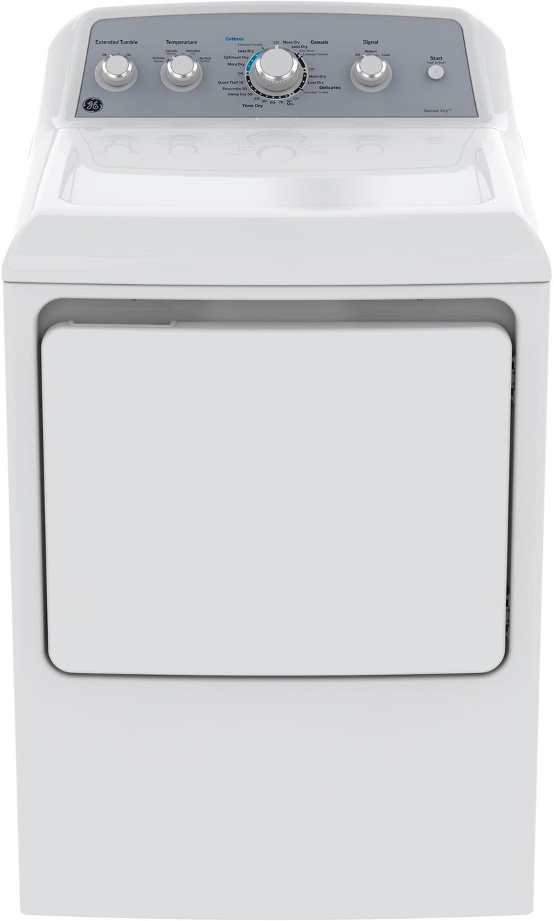 GE White Electric Dryer (7.2 Cu. Ft.) - GTD45EBMKWS