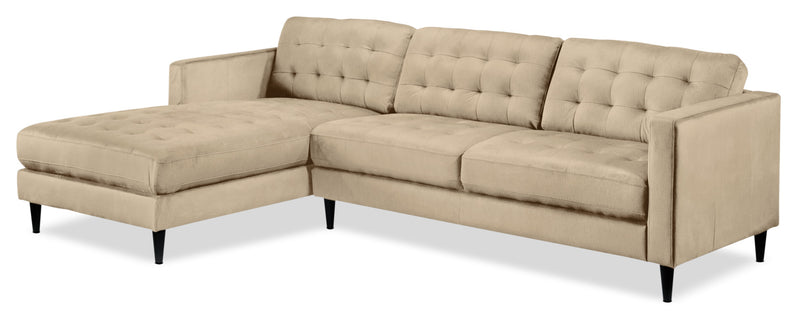 Paragon 2-Piece Sectional with Left-Facing Chaise - Taupe
