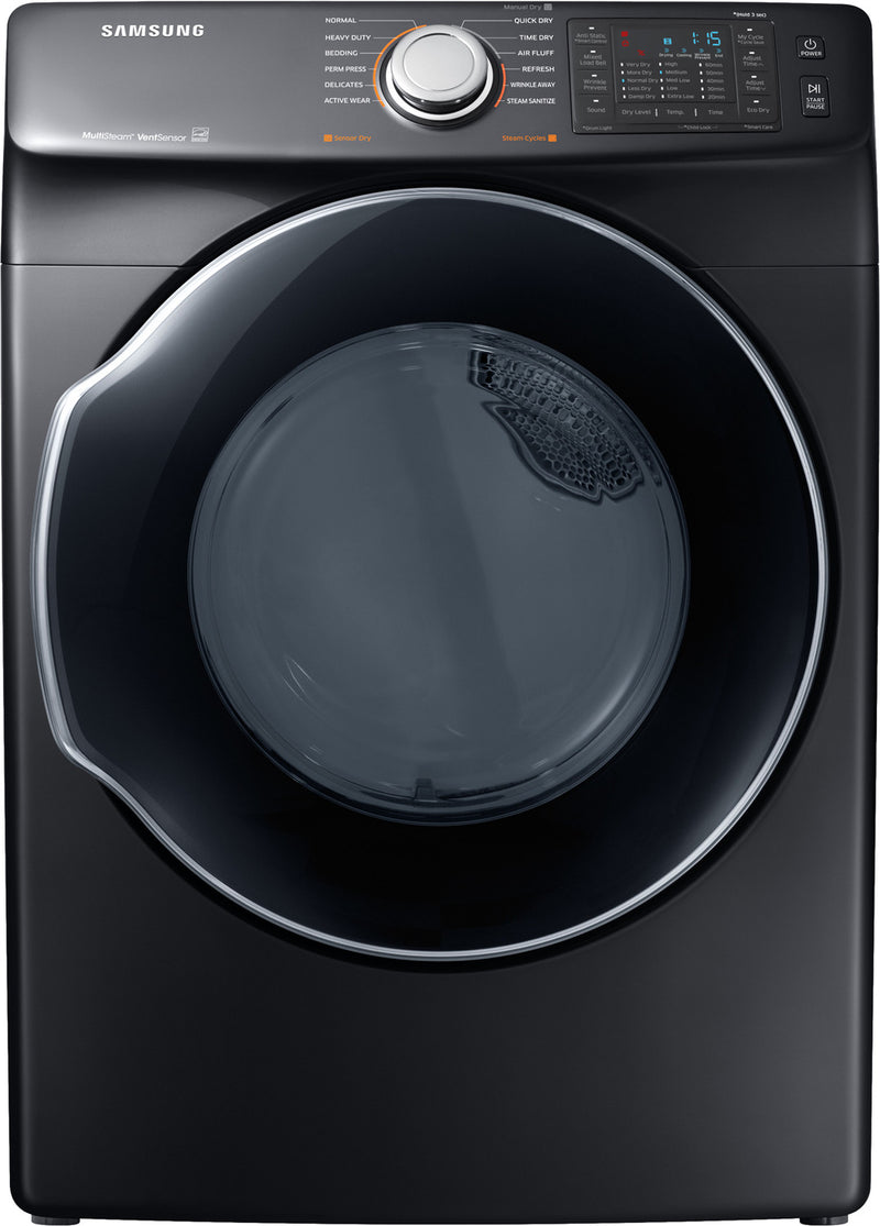 Samsung Black Stainless Steel Electric Dryer (7.5 Cu. Ft.) - DVE45N6300V/AC