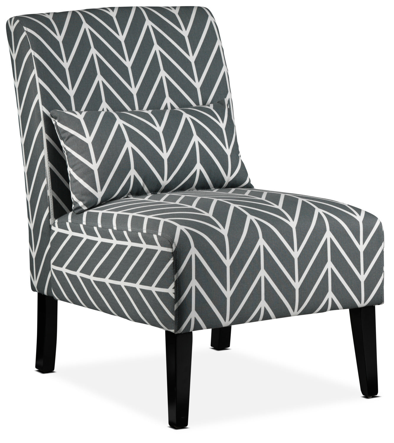 Santos accent chair grey chevron