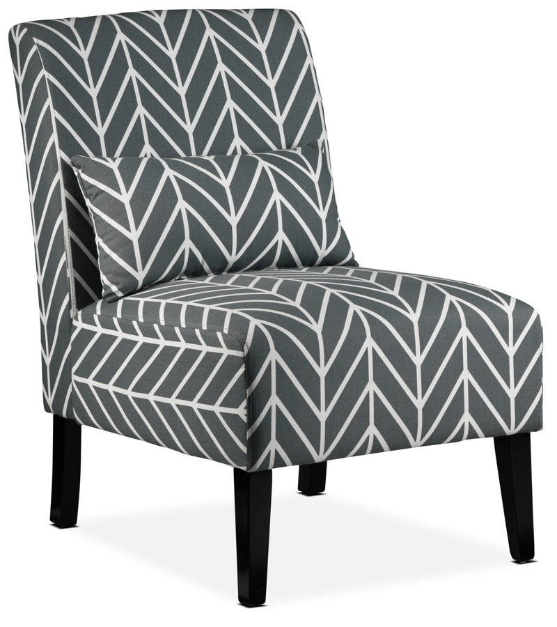 Santos Accent Chair - Grey Chevron