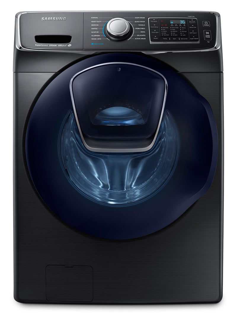 Samsung Black Stainless Steel Front-Load Washer (5.2 Cu. Ft. IEC) - WF45K6500AV/A2