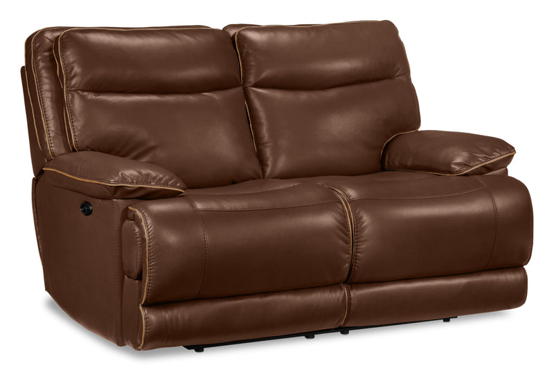 Lanette Power Reclining Loveseat - Dark Brown