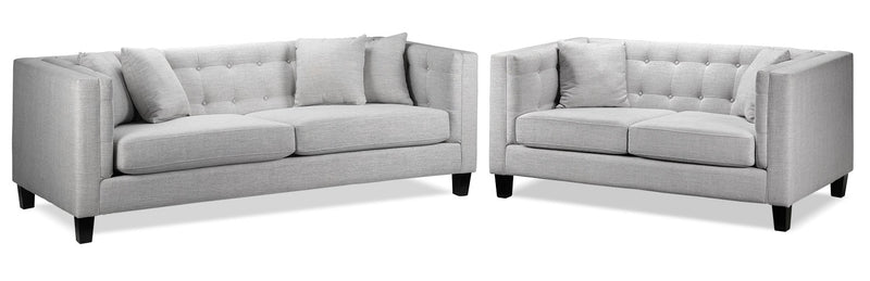 Astin Sofa and Loveseat - Grey