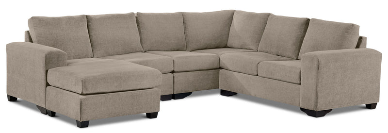 Danielle 3-Piece Sectional with Left-Facing Corner Wedge - Pewter