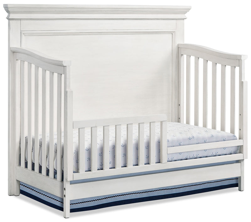 Riley Convertible Toddler Bed - Brushed White