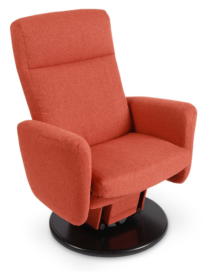 Cydney Swivel Glider Recliner - Orange