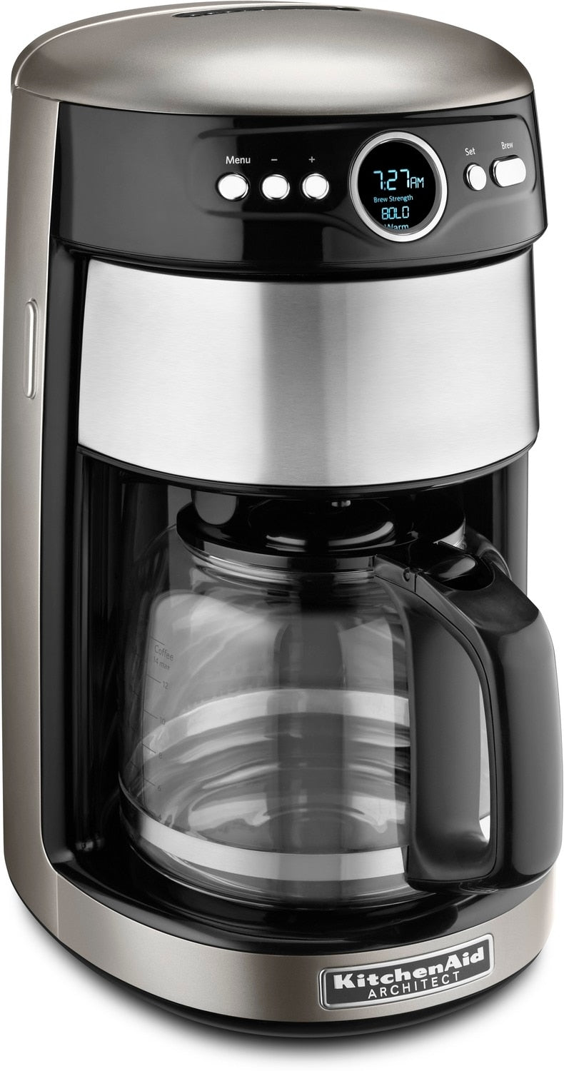 KitchenAid Cocoa Silver 14-Cup Coffee Maker - KCM1402ACS   Leon's on 4 cup coffee makers, grind and brew coffee makers, nespresso coffee maker, mr coffee maker, personal coffee maker, 12 cup coffee maker, under cabinet coffee maker, 60 cup coffee maker, thermal coffee maker, capresso coffee maker, automatic coffee machines, black & decker coffee maker, viking coffee maker, cuisinart coffee maker, 14 cup coffee maker, dual coffee maker, starbucks coffee maker, vacuum coffee maker, blue coffee maker, coffee maker grinder, 1 cup coffee maker, spacemaker coffee maker, braun coffee maker, target red coffee maker, farberware coffee maker, 4 cup coffee maker, thermal carafe coffee maker, black and decker coffee maker, bunn coffee maker,