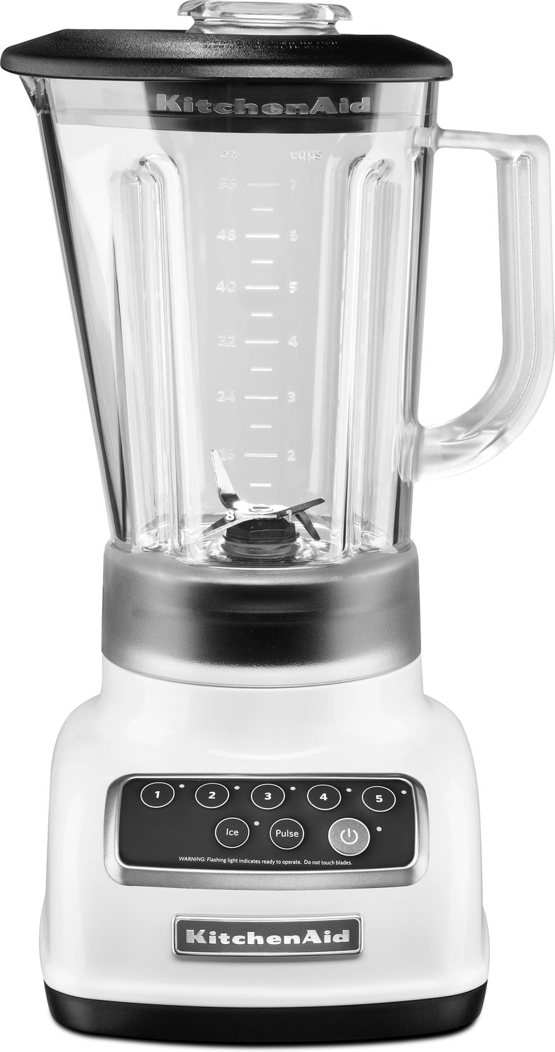 KitchenAid White 5-Speed Classic Blender (56 oz.) - KSB1570WH