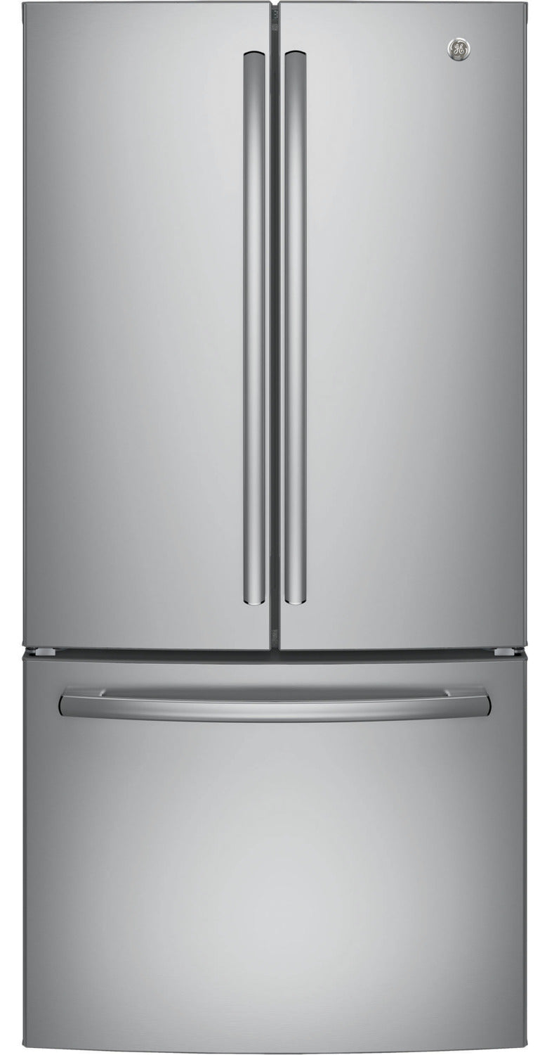 Image of GE Stainless Steel Counter-Depth French Door Refrigerator (18.6 Cu. Ft.) - GWE19JSLSS