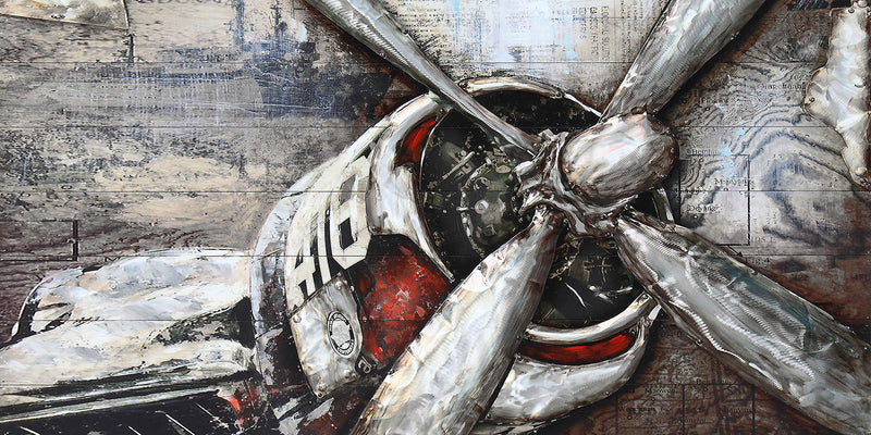 "Fly Rider Metal Canvas Painting (60"" X 30"")"