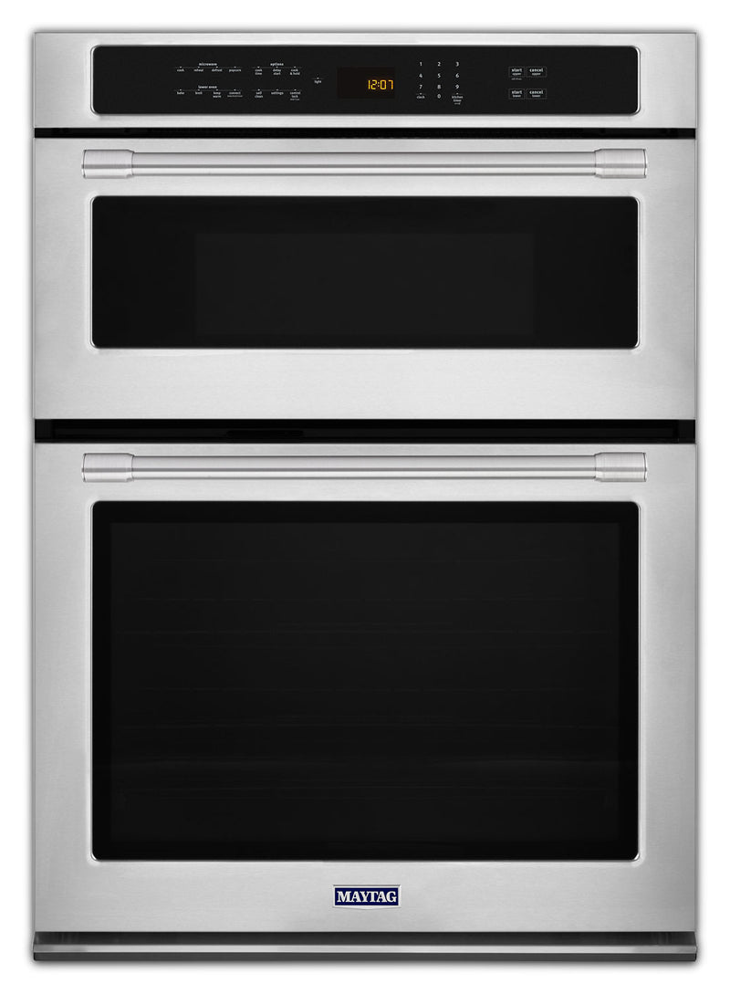 Maytag Stainless Steel Electric Double Wall Oven with Microwave (6.4 Cu. Ft.) - MMW9730FZ