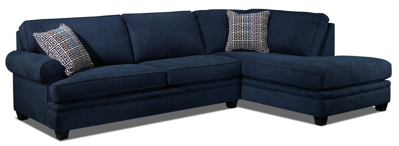 Tammy 2-Piece Sectional with Right-Facing Chaise - Blue