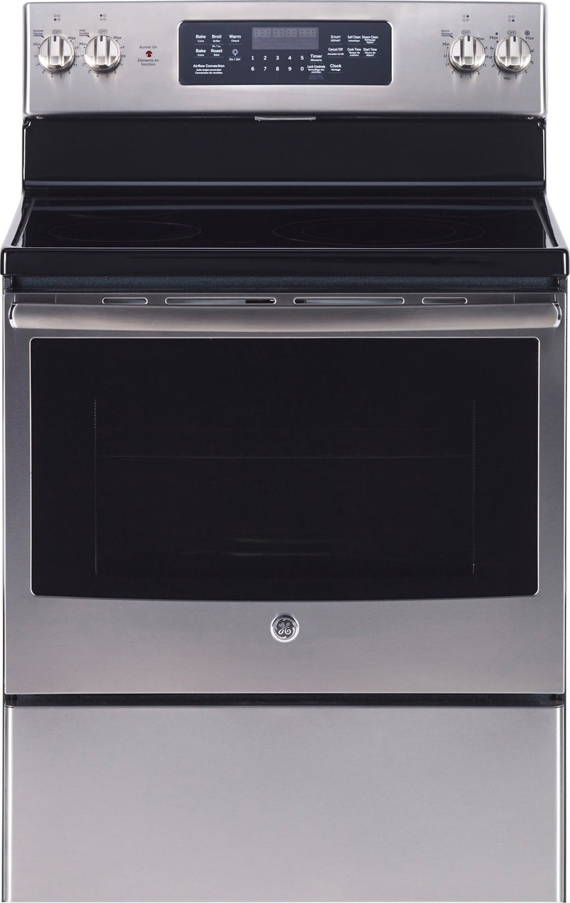 GE Stainless Steel Freestanding Electric Convection Range (5.0 Cu. Ft.) - JCB830SKSS