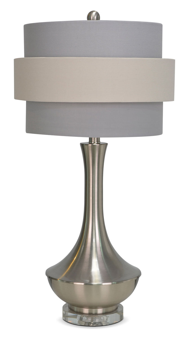 "Joan 26"" Table Lamp - Silver and Grey"