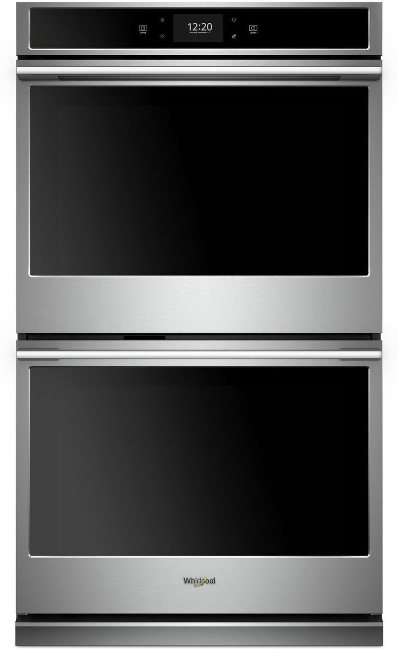 Whirlpool Stainless Steel Electric True Convection Double Wall Oven (10.0 Cu. Ft.) - WODA7EC0HZ