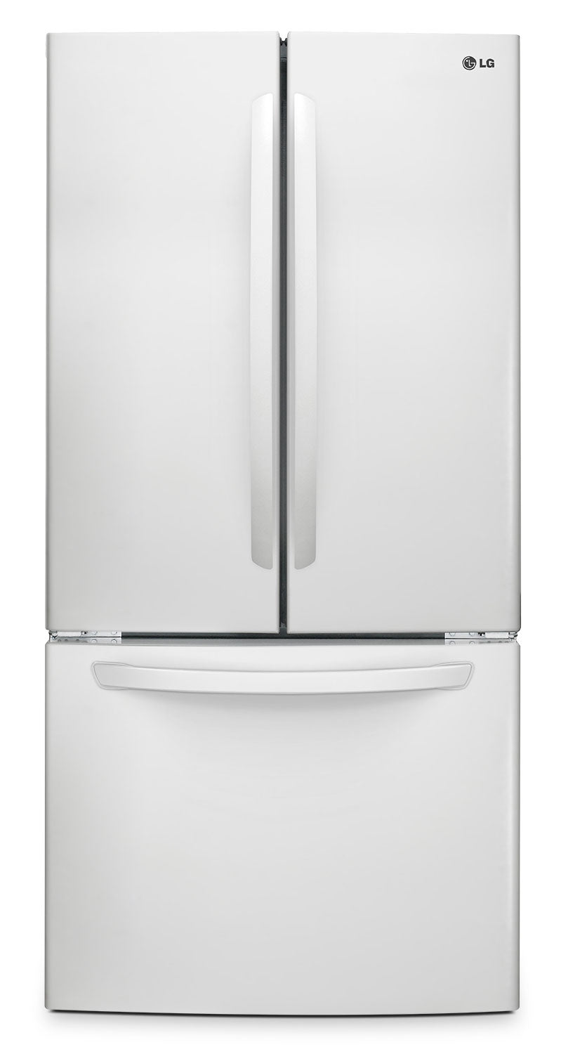 Lg Appliances White French Door Refrigerator 239 Cut Ft