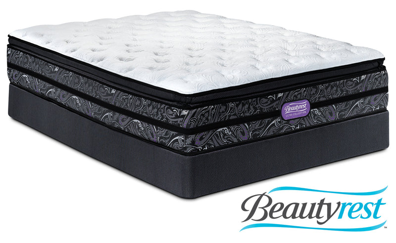 Simmons Beautyrest Ultra Garrett Cushion Firm Queen Mattress and Boxspring Set