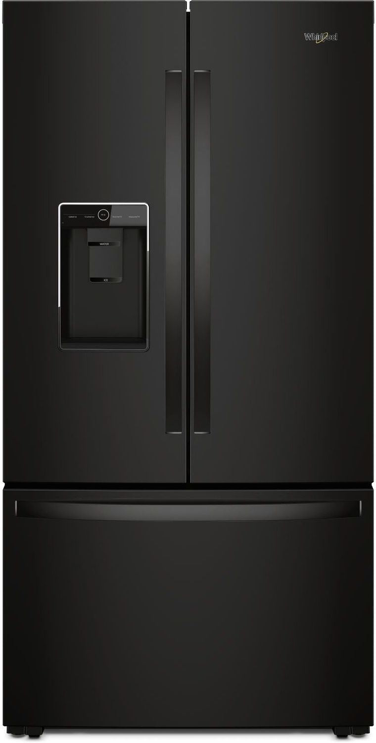 Whirlpool Black Counter-Depth French Door Refrigerator (24 Cu. Ft.)  - WRF954CIHB