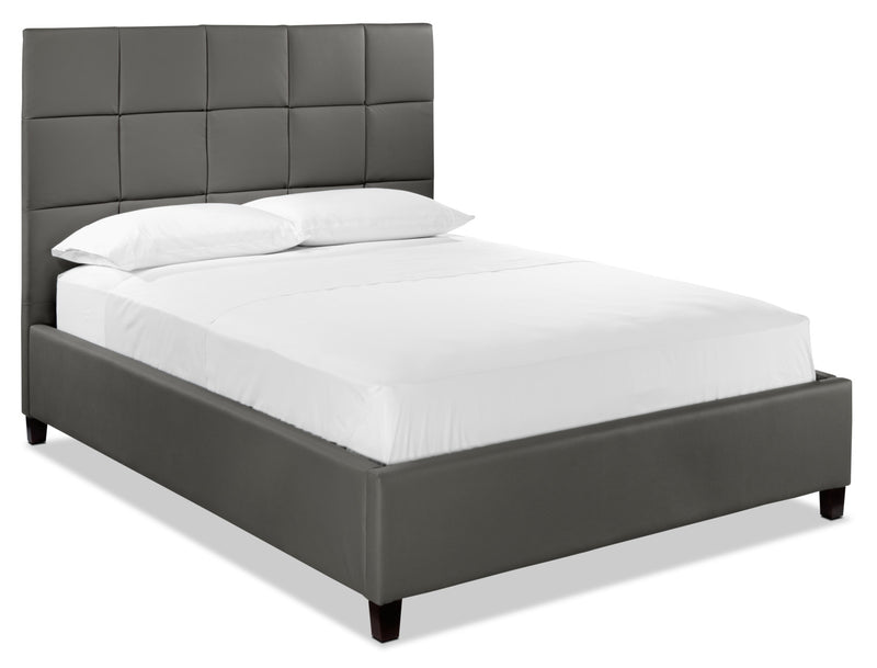 Elvis Queen Upholstered Bed - Pewter
