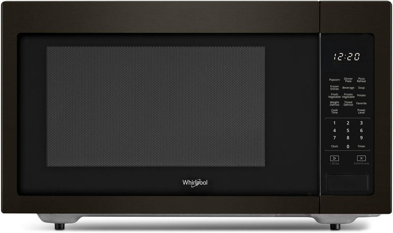 Whirlpool Black Stainless Steel Countertop Microwave (1.6 Cu. Ft.) - YWMC30516HV