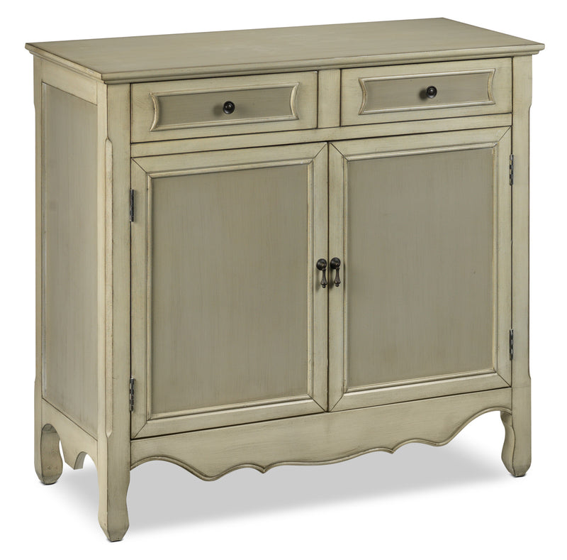 Beasley Accent Cabinet with Drawers - Antique White and Grey