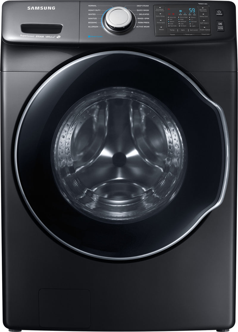 Samsung Black Stainless Steel Front-Load Washer (5.2 Cu. Ft. IEC) - WF45N6300AV/A5