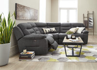 Charlotte 3-Piece Power Reclining Sectional - Dark Grey