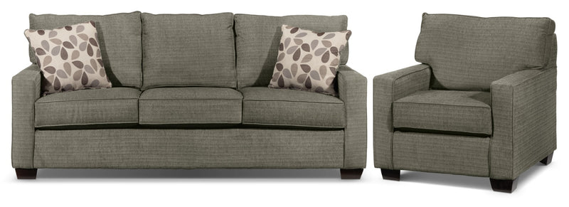 Perkin Sofa and Chair Set - Graphite