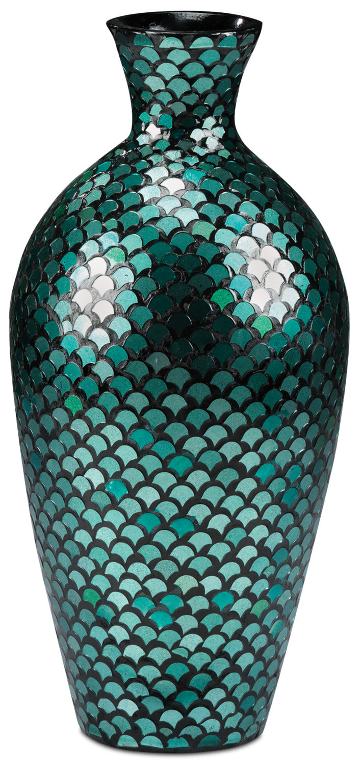 "Aida 23"" Floor Vase - Blue and Green"