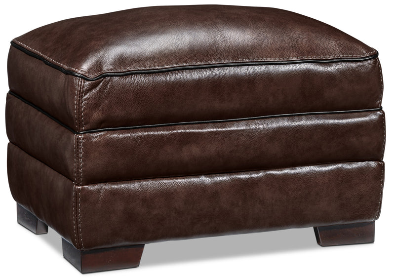 Stampede Ottoman - Coffee