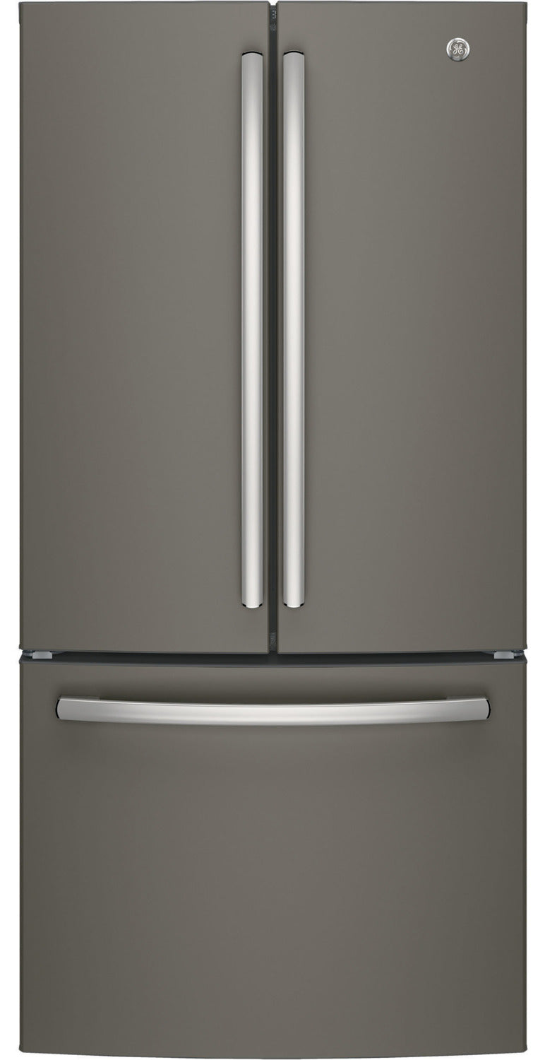 GE Slate Counter-Depth French Door Refrigerator (18.6 Cu. Ft.) - GWE19JMLES