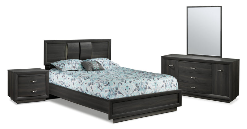 Gerard 5-Piece Queen Bedroom Set - Deep Grey