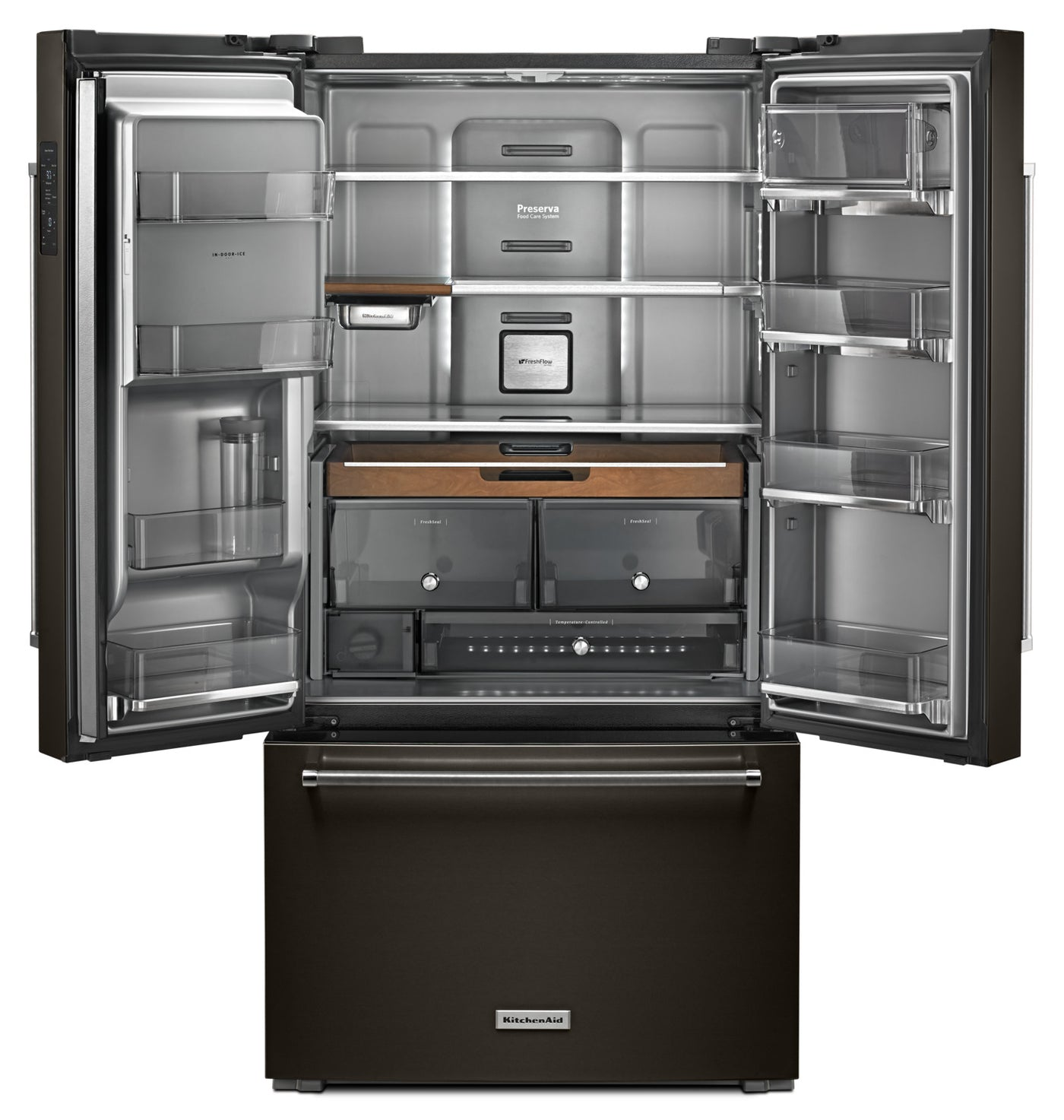 Kitchenaid Black Stainless Steel Counter Depth French Door