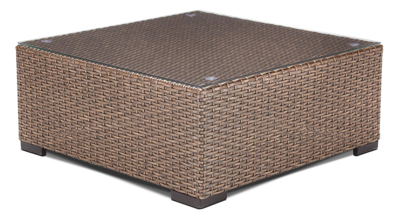 Caribe Outdoor Coffee Table - Light Brown