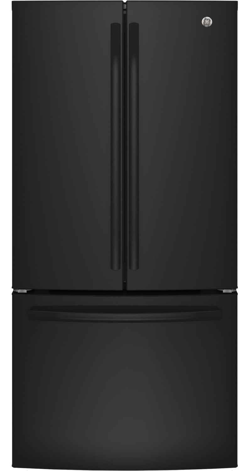 GE Black Counter-Depth French Door Refrigerator (18.6 Cu. Ft.) - GWE19JGLBB