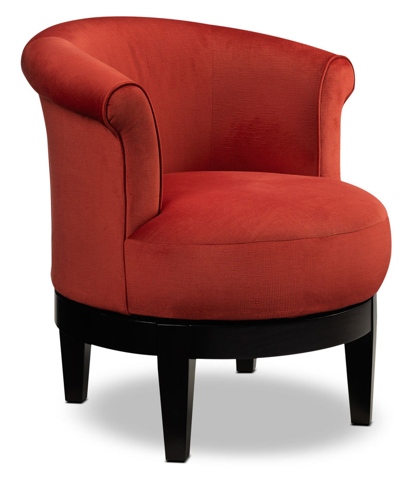 Attica Swivel Accent Chair - Red