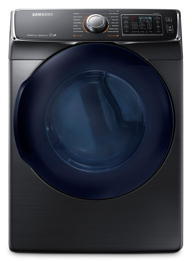 Samsung Black Stainless Steel Dryer (7.5 Cu. Ft.) - DV45K6500EV/AC