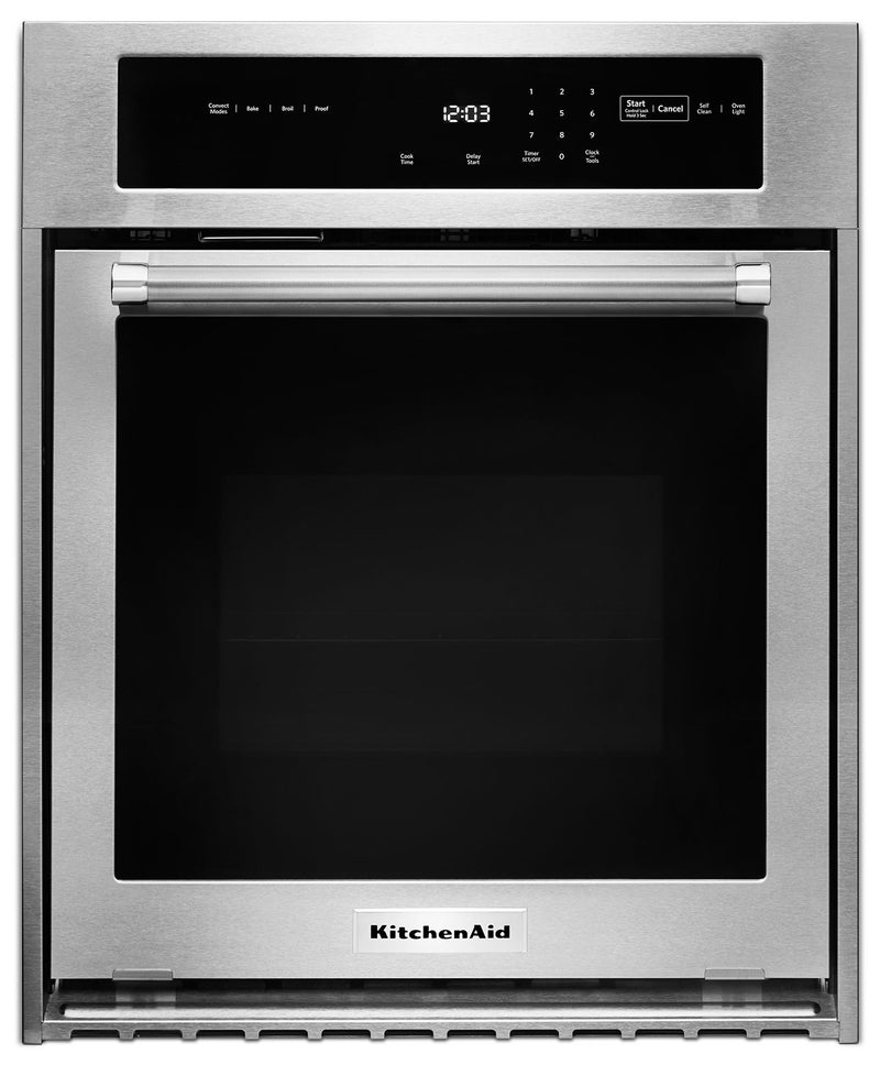 KitchenAid Stainless Steel Electric True Convection Wall Oven (3.1 Cu. Ft.) - KOSC504ESS