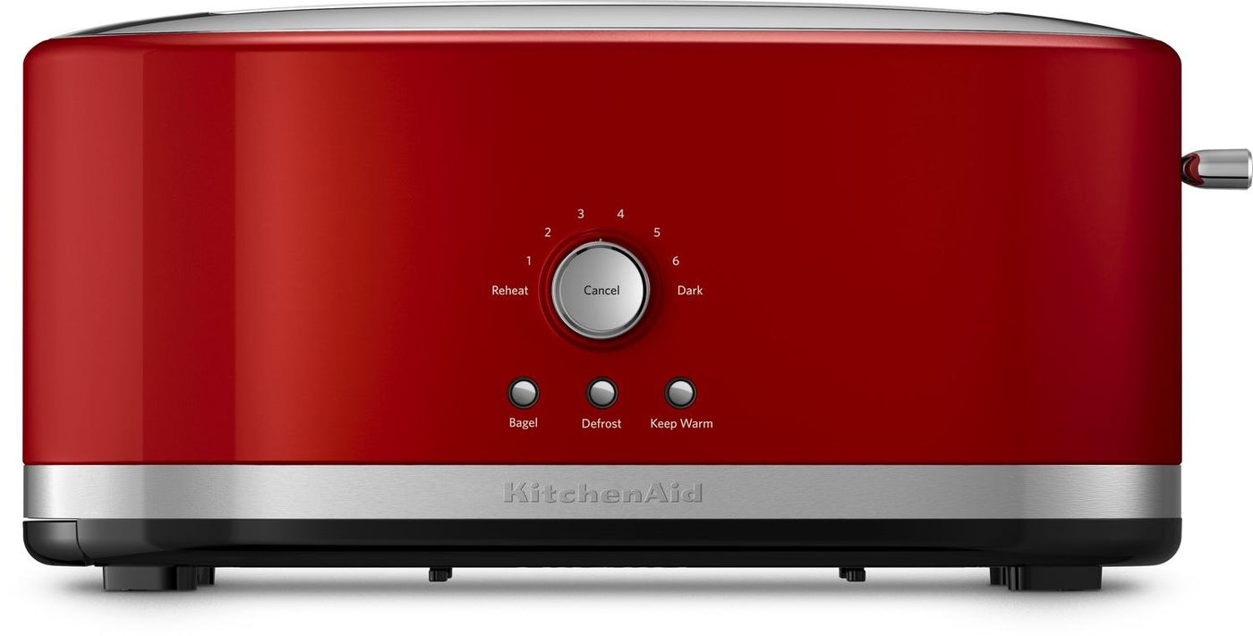 Kitchenaid Empire Red 4 Slice Long Slot Toaster With High Lift Lever Kmt4116er
