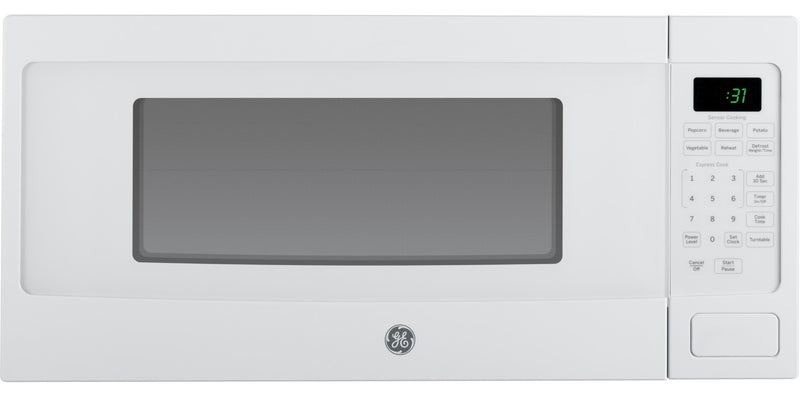GE Profile White Spacemaker Countertop Microwave (1.1 Cu. Ft.) - PEM10WFC