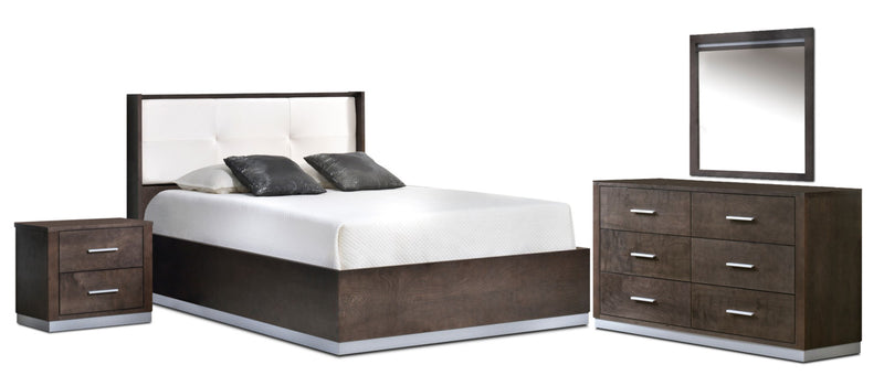 Levi 5-Piece Queen Bedroom Set - Pewter