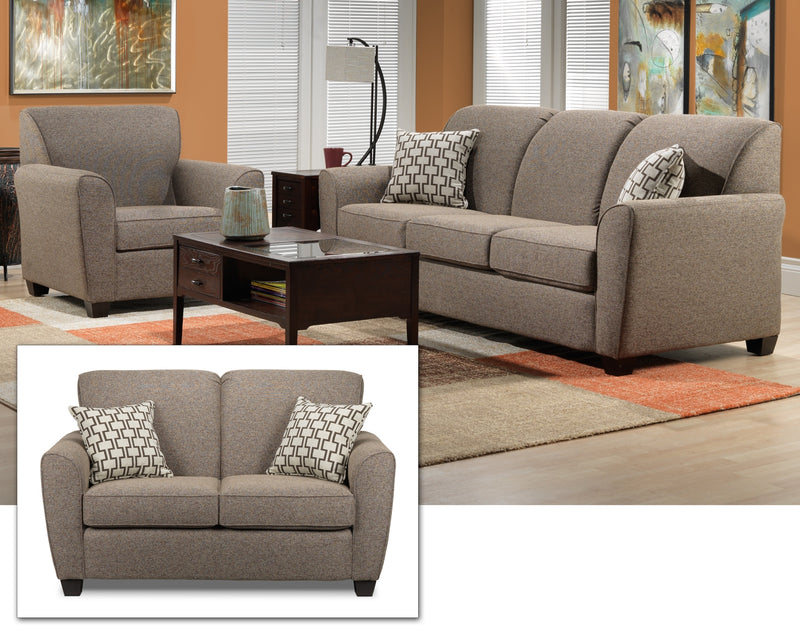 Ashby 3 Pc. Living Room Package - Brown
