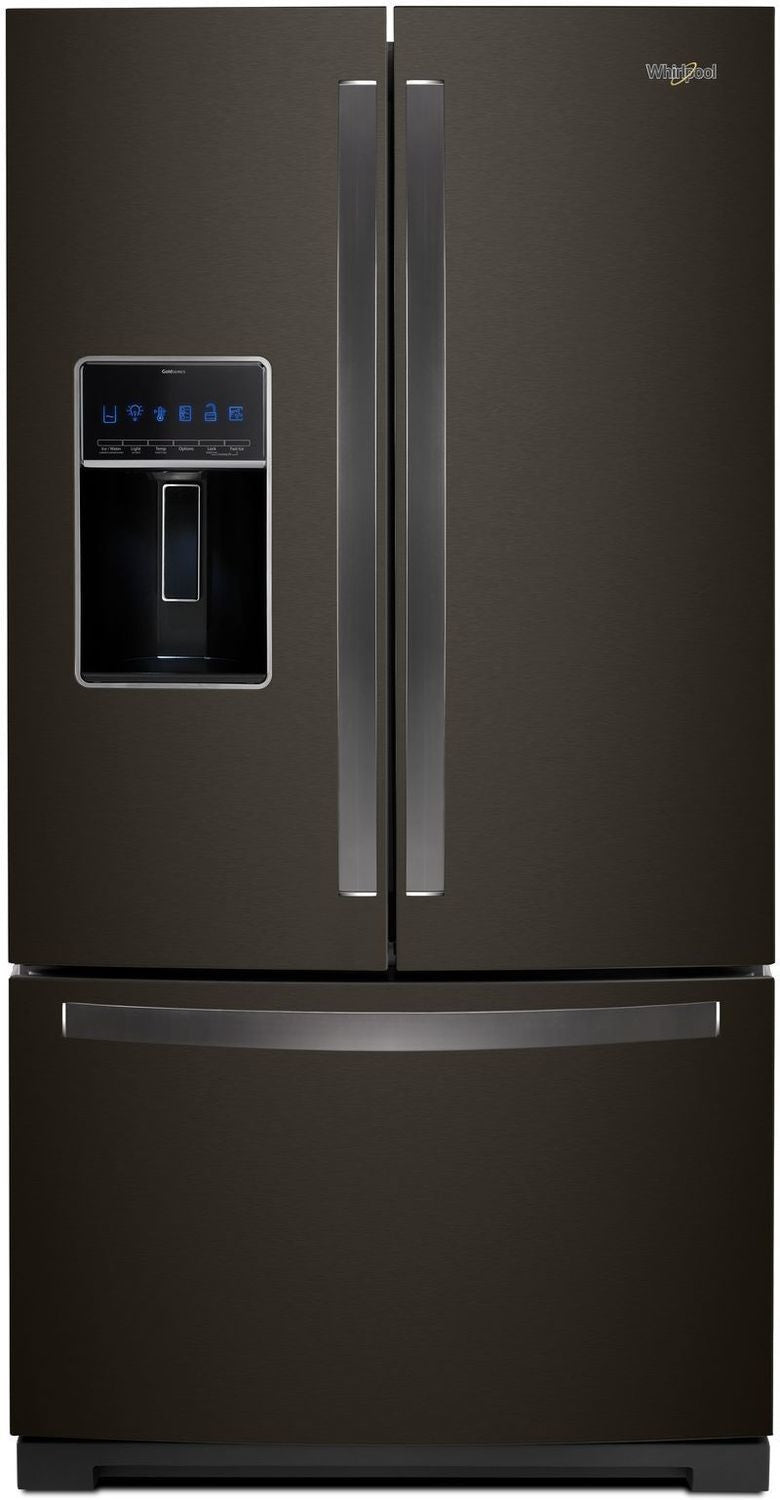 Image of Whirlpool Black Stainless Steel French Door Refrigerator (27 Cu. Ft.) - WRF767SDHV
