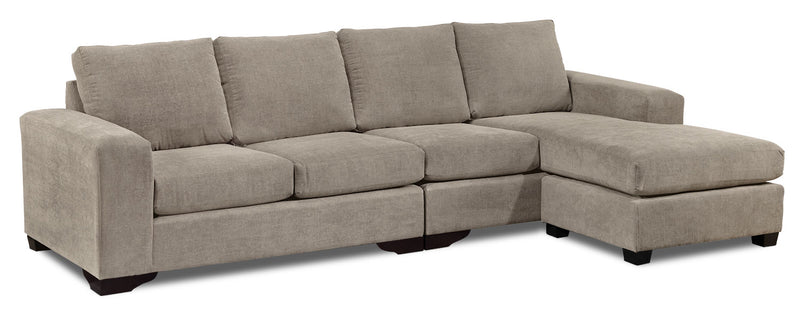 Danielle 2-Piece Sectional with Right-Facing Chaise - Pewter