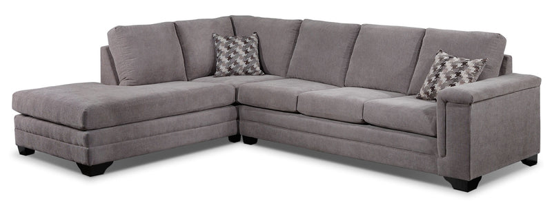 Leighton 2-Piece Sectional with Left-Facing Chaise - Grey
