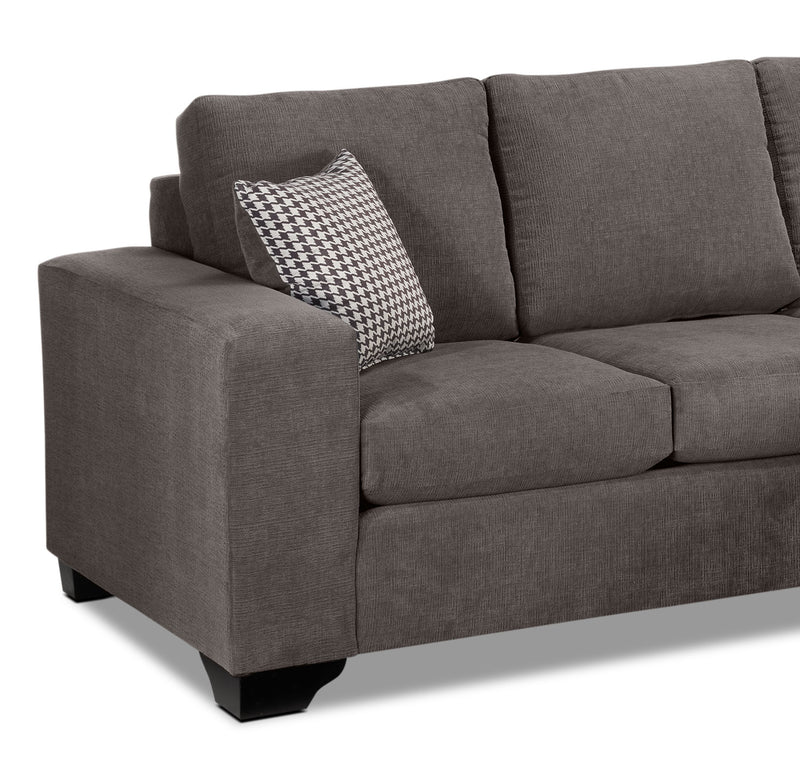 Leon S Furniture Sectional Sofas: Fava Chaise Sofa - Grey