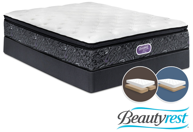 Simmons Beautyrest Ultra Silvia Firm King Mattress and Split Low-Profile Boxspring Set