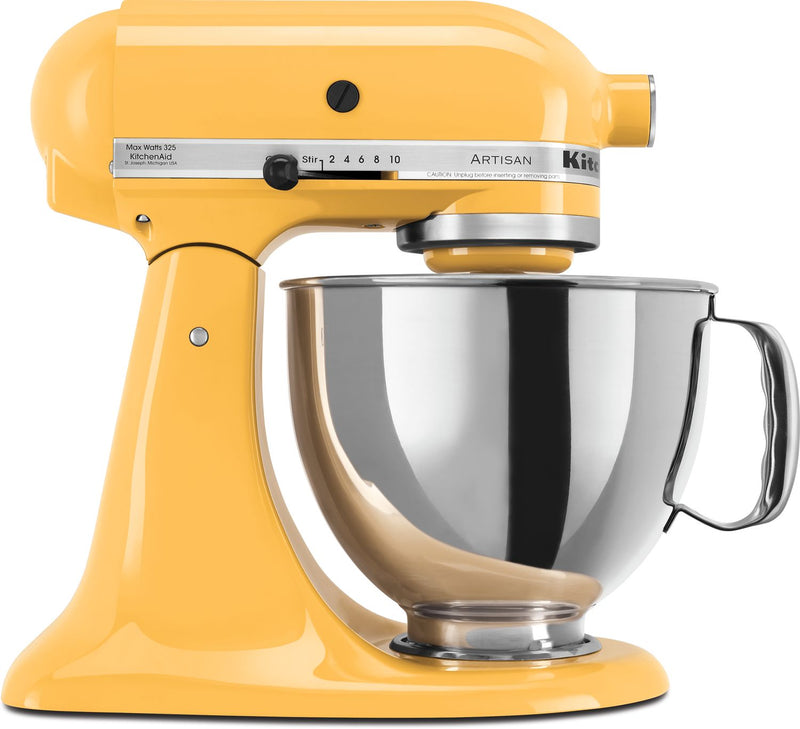 KitchenAid Buttercup 5-Quart Tilt-Head Stand Mixer - KSM150PSBF