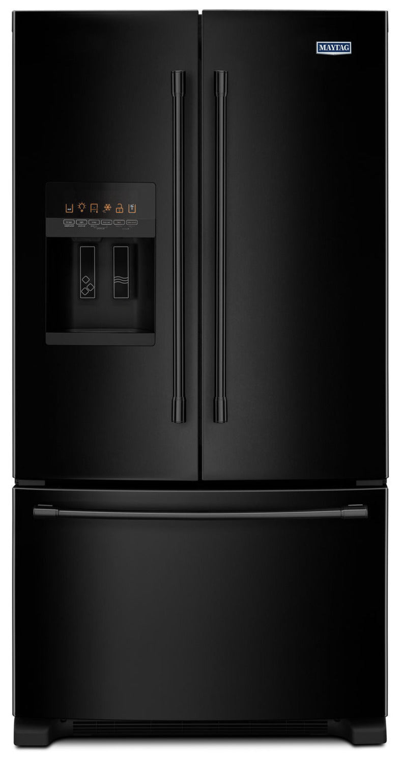 Maytag Black French Door Refrigerator (25 Cu. Ft.) MFI2570FEB